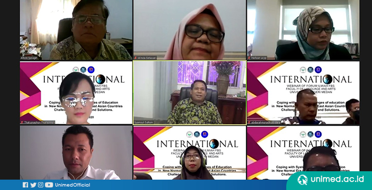 Ribuan Peserta Ikuti International Web Seminar Forum Ilmiah FBS UNIMED